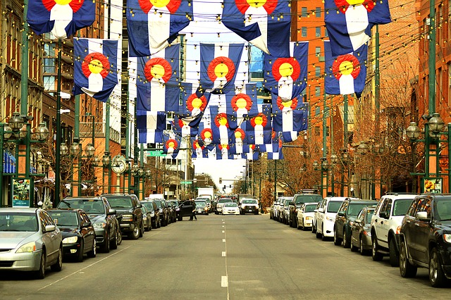 A street in downtown Jersey City, New Jersey is attractive to Denver business owners.