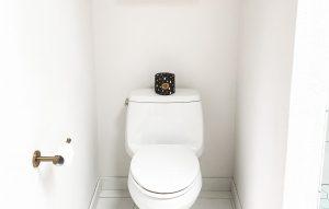 A tiny bathroom.